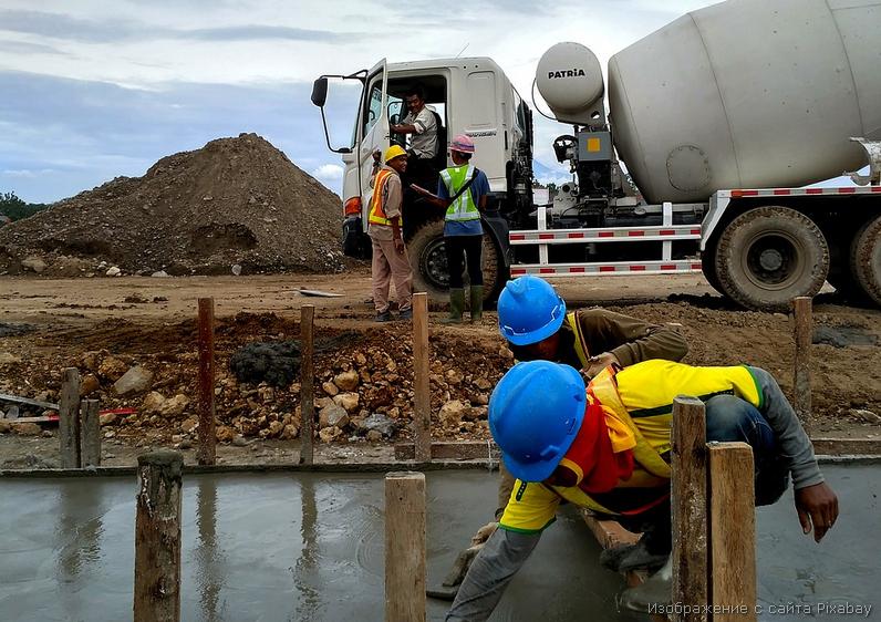 бетонная дорога стрительство