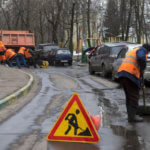 фото ремонт дорожного покрытия зимой