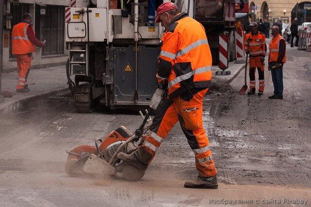 дорожные работы рабочий